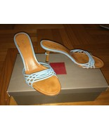 Cole Haan Glam Turquoise And Camel Slide Mule S... - $35.99