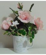 Precious Moments 1985 Pink Floral Arrangement C... - $12.00