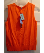 Cable & Gauge Creamy Orange Colored Sleeveless ... - $15.99