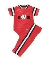 WISCONSIN BADGERS NCAA ADIDAS 3/6 MONTHS INFANT... - $19.98
