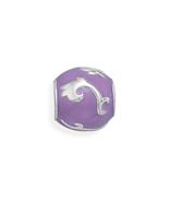 Sterling Silver Story Beads Purple Enamel Bead ... - $33.00