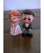 Wedding Cake Topper Humorous Couple Bride and G... - $12.99