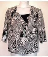 Picadilly Fashions Black Gray Turquoise Knit To... - $15.65