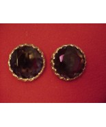 Vintage ELSA SCHIAPARELLI Amber Tourmaline EARR... - $54.45