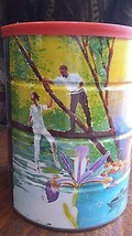 VINTAGE BUTTER NUT COFFEE CAN TIN ADVERTISING C... - $49.99