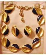 Vintage unsigned Royal Blue & gold Metal Enamel... - $54.45