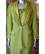 K & B Women's Business Fashion Suit Lime Green ... - $74.25