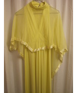 Vintage Yellow Formal Gown Size 11/12 - $15.60