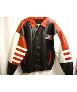 Men Misty Harbor PVC Black and Red USA Jacket S... - $25.00