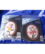 2 - Banar Designs  Embroidery Kit s- Frame incl... - $13.00