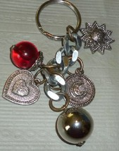 HEART SUN MOON dangling charms keyring key chai... - $11.99
