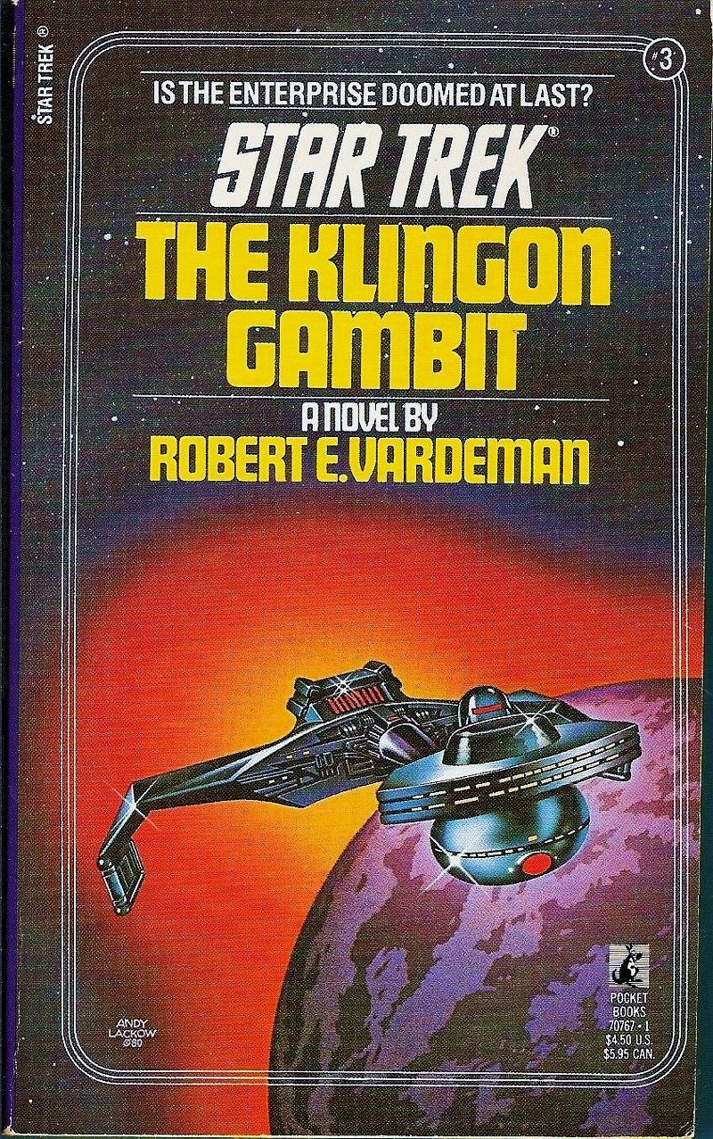 The Klingon Gambit Star Trek Orginal Series No 3 by Robert Vardeman