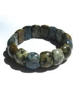 Multi Color Jasper Stone Adjustable Stretch Bra... - $10.88