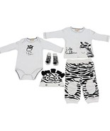 5 Piece Zebra Outfit for Baby 3-6 Months (Cardi... - $32.95