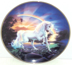 Unicorn Collector Plate Rainbow Diamond Frankli... - $49.95