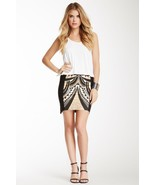 MinkPink L Cleopatra Mini Skirt Egypt Theme Pri... - $12.00