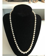 Ladies Estate CULTURED PEARL Necklace 14kt Gold... - $1,534.50