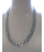 VTG 70s Sarah Coventry Necklace Silver Tone Alu... - $18.99
