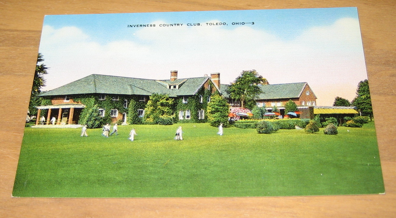 Vintage Inverness Country Club Toledo Ohio Postcard Buildings Architecture