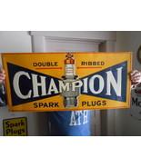 Vintage Signs Champion Spark Plug Sign Embossed... - $1,290.85