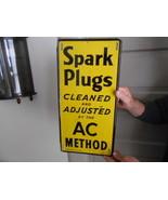 Vintage Sign AC Spark Plugs 1946 Original - $1,373.20