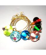 Unique Italian Moretti Handmade Beads Wine Glas... - $20.00
