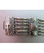 VTG Bracelet Tribal Faces Aztec Olmec Mayan Mex... - $39.99