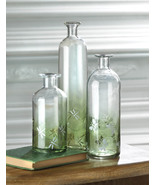 3 Apothecary Styled Glass Bottles - $24.00