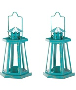 2 Blue Lighthouse Lanterns - $21.00