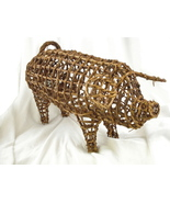 large brown straw pig - $189.00