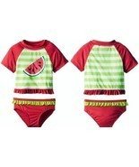 Wippette Toddler Girls' Watermelon 2-Piece Rash... - $18.97
