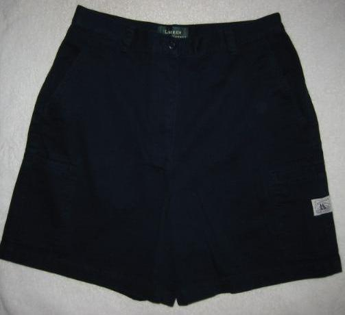 Ralph Lauren Navy Blue Cotton Cargo Shorts Size 8