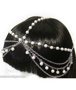 Hair Chain Jewelry Crystal Clip Barrette Access... - $17.79