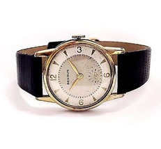 Benrus Antique Manual Wind Leather Band Mens Dr... - $143.55