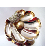 Vintage Boucher Style Pearl Rhinestone Gold Pla... - $35.00