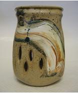 Studio Art Pottery Vase Hand Thrown and Hand Bu... - $64.34
