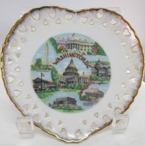 Heart Shaped Souvenir Collector Plate Washingto... - $18.50