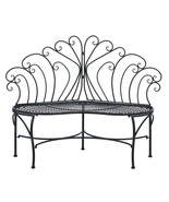 Patio Bench Chair Fan Shape Back Rest - $140.00