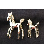 Mother and Foal Horse Pins Set of 2 - $12.00