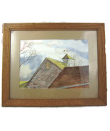 Framed Watercolor Painting Original Farmhouse C... - $20.00