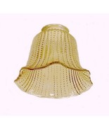 Amber Beaded Ribbed 2 1/4 in Bell Light Shade C... - $10.00