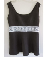 Ann Taylor Loft Brown tank top 2 Empire Linen b... - $18.99
