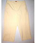 Womens Valerie Stevens Cropped Pale Yellow Pant... - $30.00