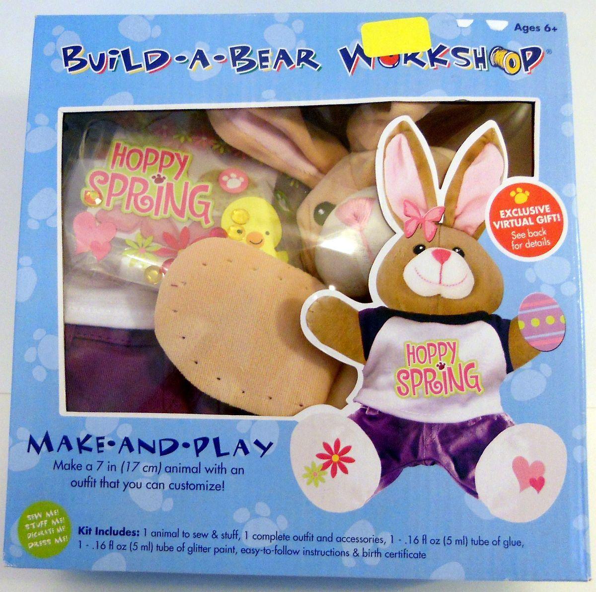 Build A Bear Workshop Hoppy Spring Easter Bunny Kit