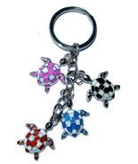 Hawaii Honu Sea Turtle 4 Charm Key-Chain Black ... - $7.91