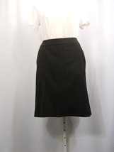 NY Collection Black Lined Flared Back Skirt Plu... - $16.79
