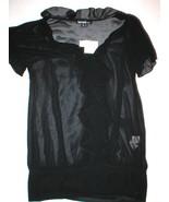 New Kensie Blouse NWT $68 Sheer Black Small S R... - $47.24