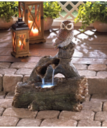 Outdoor Water Fountain Owl On A Log - $145.00