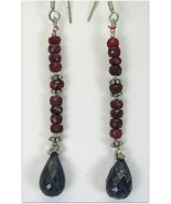 Hand Faceted Natural Ruby + Sapphire Briolettes... - $70.08