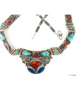 Traditional Inlaid Turquoise with Red Coral and... - $194.88